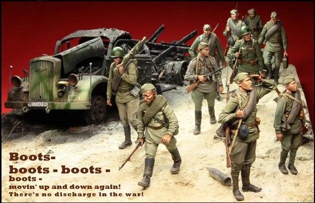 1//6 Scale Alert Ligne Action Figures Armée Rouge soviétique-casque et liner