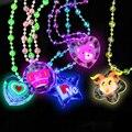 Горячая распродажа мигает ожерелье мягкой резины из светодиодов игрушки мультфильм смешной Up игрушки ну вечеринку празднование подарки для детей дети