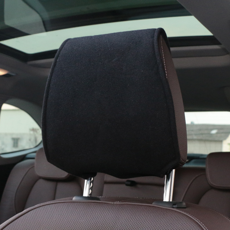 Hot car headrest cover with Phone Pocket Fit For renault opel Volkswagen <font><b>Suzuki</b></font> AUDI Nissan ford focus Accessories Car Styling image