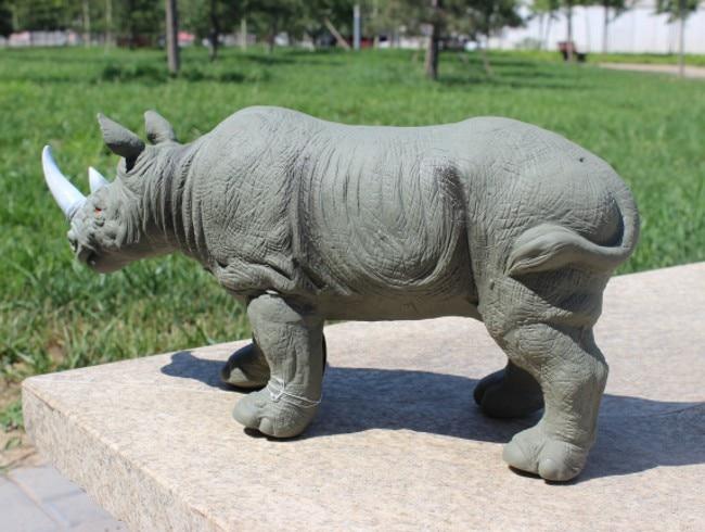 Oversize Rhinoceros Wild <font><b>Forest</b></font> <font><b>Animals</b></font> Toys <font><b>Action</b></font> <font><b>Figures</b></font> Model PVC Plastic Boys Collections Toy <font><b>Figure</b></font> Children Gift