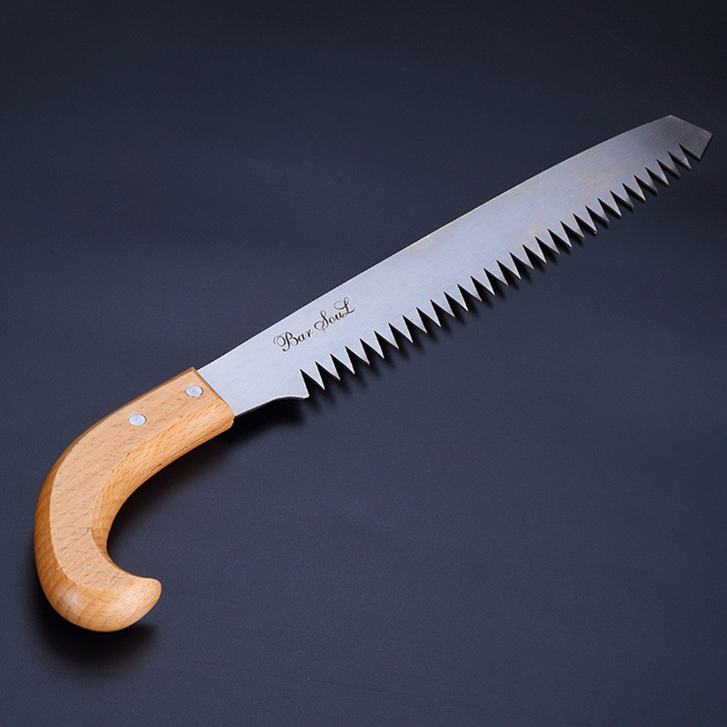 wooden handle Cutting Ice Saw Open Ice sharp Saw Hard Saw Bartender Special Saw ice knife gardening saws bar tool