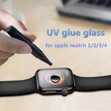 UV Tempered Glass for watch Series 4 full cover 40 44mm glass film Apple i 1 2 3 38 42mm Nano Liquid screen protector