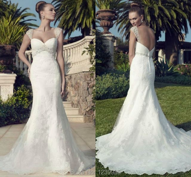 casablanca vestido de novia 2016 vestidos de noiva lujo backless de