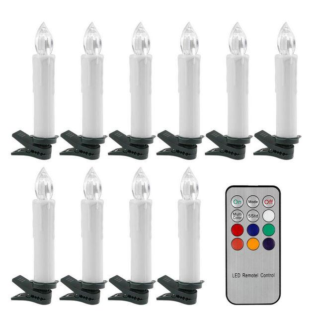 Дистанционное управление LED конус света свечи w/12 кнопок контроллера и крепление Клип Свадебные Рождество елка декора партии RGB -Multicolor