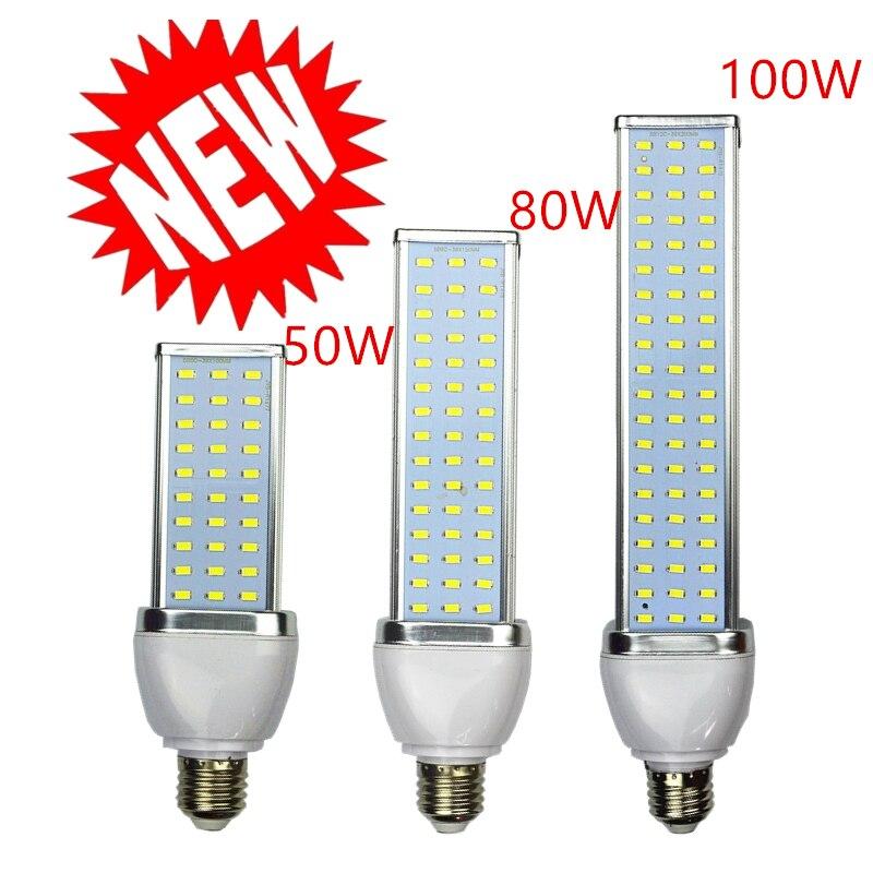NEUE 1 teile/los 5730 LED lampe Mais licht 30 watt 40 watt 50 watt 60 watt 80 watt 100 W led-lampe E27 E39 E40 85-265 v Hohe helligkeit energiesparlampe