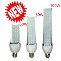 Nouveau 1 pcs/lot 5730 lampe à LED lumière de maïs 30 W 40 W 50 W 60 W 80 W 100 W LED ampoule E27 E39 E40 85-265 V haute luminosité ampoule à économie d'énergie