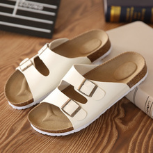 Lovers Cork Slippers Male Summer Beach Slippers Flip Slip-Resistant The Trend Of Sandals Female Casual Men Shoes Flip Flops