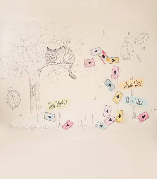 5x7ft vinyl cloth children hand painted style tree and cat photography background for newborn photo studio backdrops CM-6726 new arrival 5 8ft vinyl christmas tree background 3723 children photography studio backgrounds newborn photography backdrops
