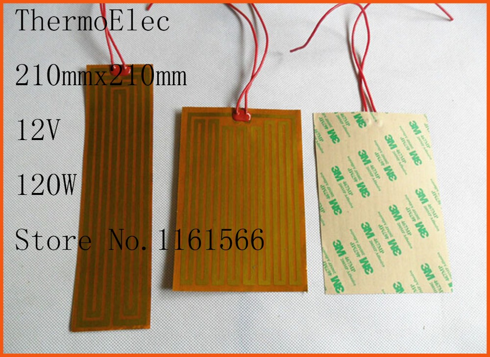 12V 120W element heating Print PI film polyimide heater heat rubber electric flexible oil heated bad heating pad Industrial Heat dia 400mm 900w 120v 3m ntc 100k round tank silicone heater huge 3d printer build plate heated bed electric heating plate element