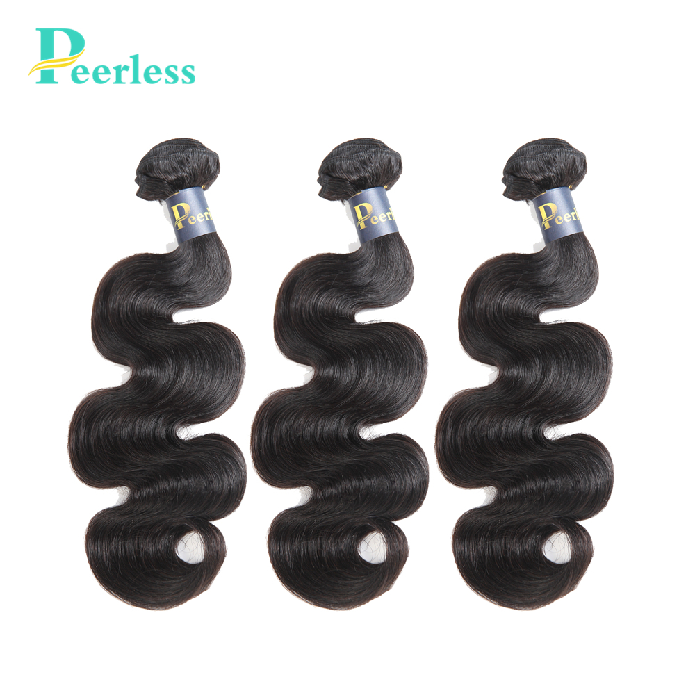 PEERLESS Bundles Human-Hair-Extensions Virgin-Hair Body-Wave 100%Unprocessed Peruvian