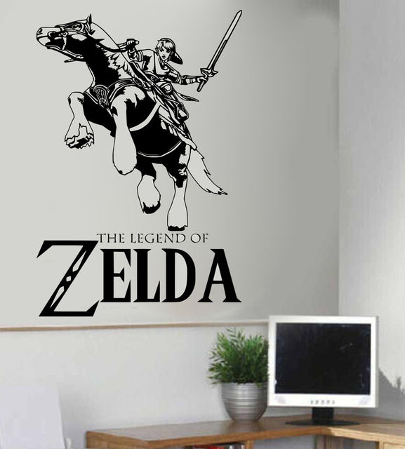 Legend of zelda link epona vinyl wall art sticker baby wall decals nursery kids room
