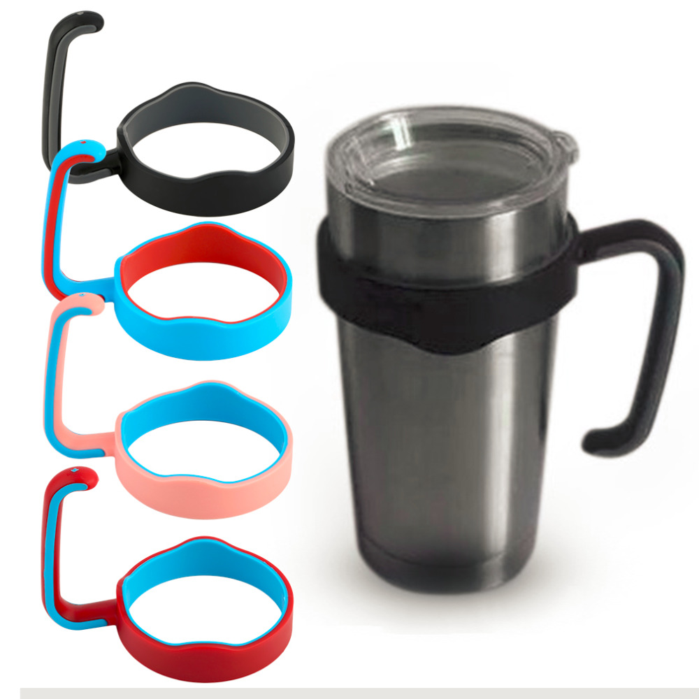 1Pc Portable <font><b>Handle</b></font> <font><b>for</b></font> <font><b>20</b></font> Oz <font><b>Cup</b></font> Tumbler Coffee Mug Rambler Travel Drinkware Hand Holder <font><b>for</b></font> Car Vacuum Insulated <font><b>Cup</b></font> 4 Colors