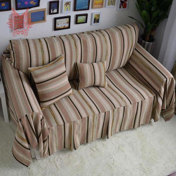 high quality cotton linen sofa cover modern style coffee striped rh aliexpress com