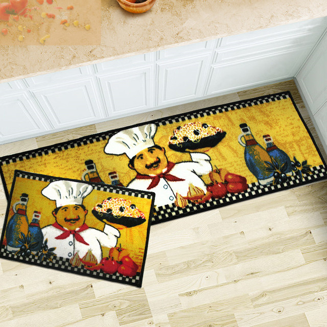 40X60+40X120Cm/Set Traditional Chinese Kitchen Mat Home Entrance
