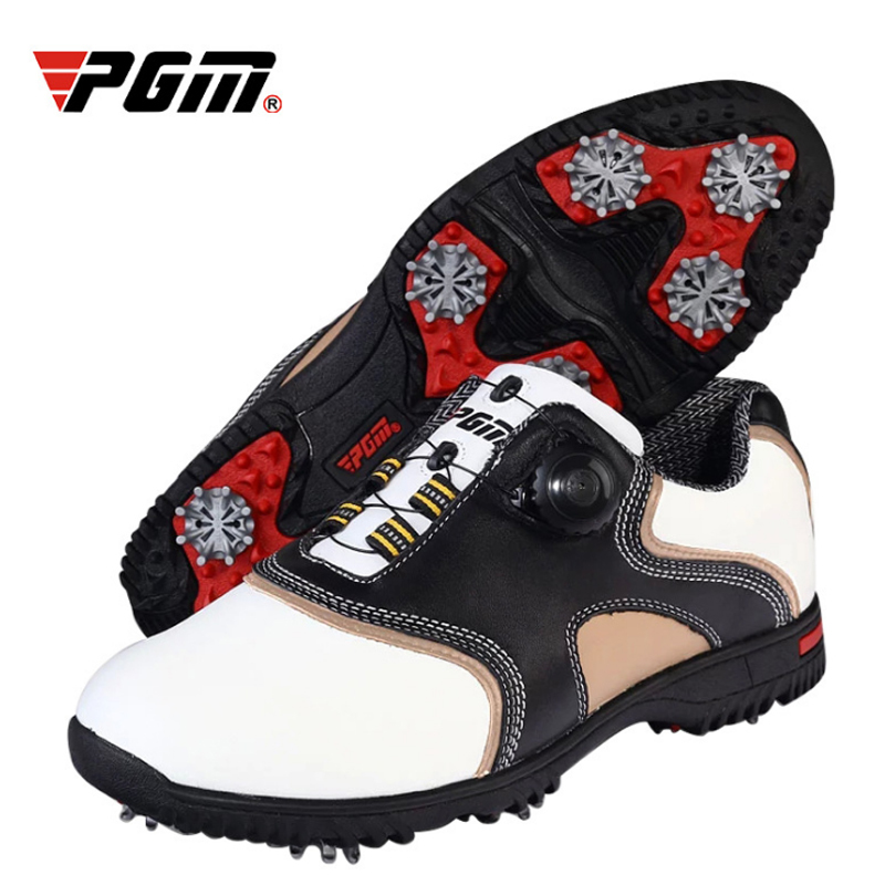 Genuine Leather Breathable Golf Shoes Waterproof Patent Men Sport Shoes Activities Nail Anti Skid Resistant Golf
