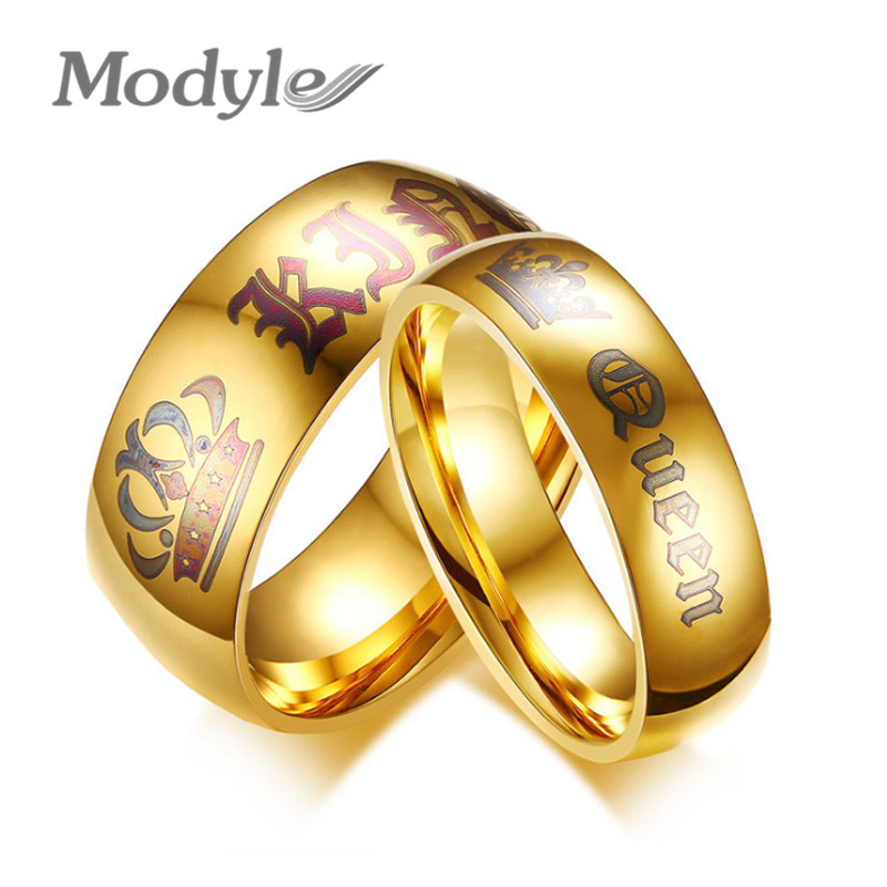 Modyle New Wedding Rings For Women Men Her King And His