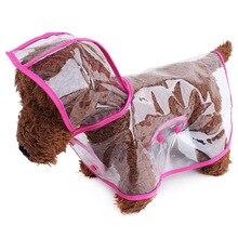 Водонепроницаемый плюшевый плащ для собак прозрачный Дождевой Плащ Одежда для щенков маленькая собака