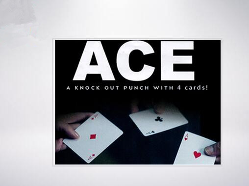 ACE By <font><b>Richard</b></font> <font><b>Sanders</b></font> Gimmick - Card Magic Tricks,Stage,Comedy,Mentalism Magic,Close Up,Accessories,Illusions,Toys image