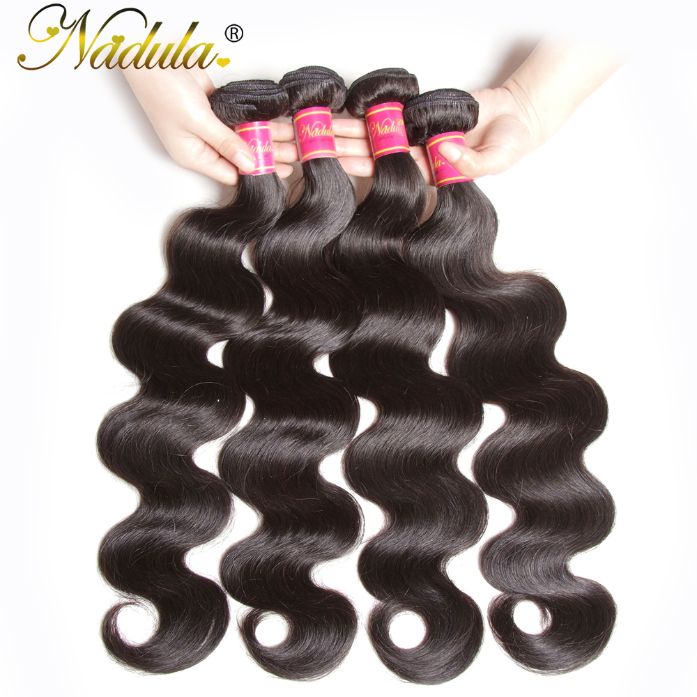 """Nadula Hair Body Wave 4pcs/Lot   Bundles 100%    8""""-30""""  Hair s 3"""