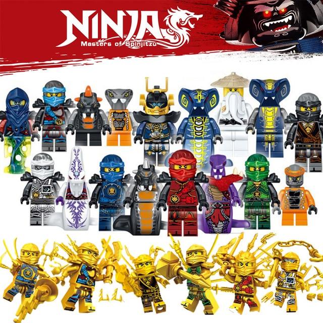 HOT NinjagoINGlys Heroes Kai Jay Cole Zane Nya Lloyd Building Blocks Figures  Compatible with LegoINGlys toys for children gift