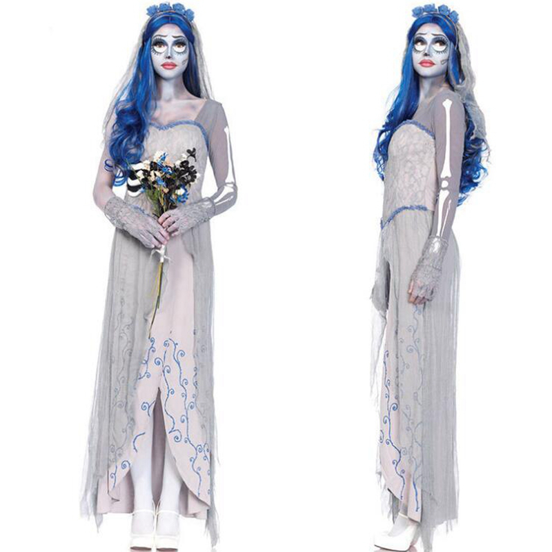 corpse bride terror as fashion vampire bride cosplay vampire queen spirit festival halloween costume dress in scary costumes from novelty special use on