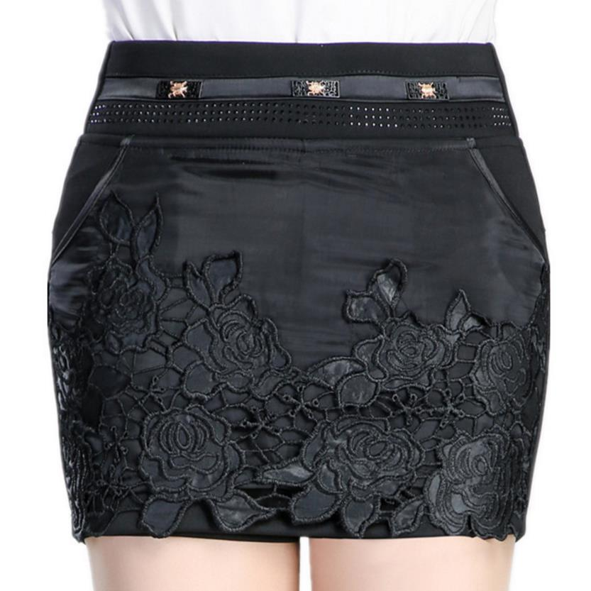 new women's lace skirt high waist large size 5xl casual   shorts   skirt