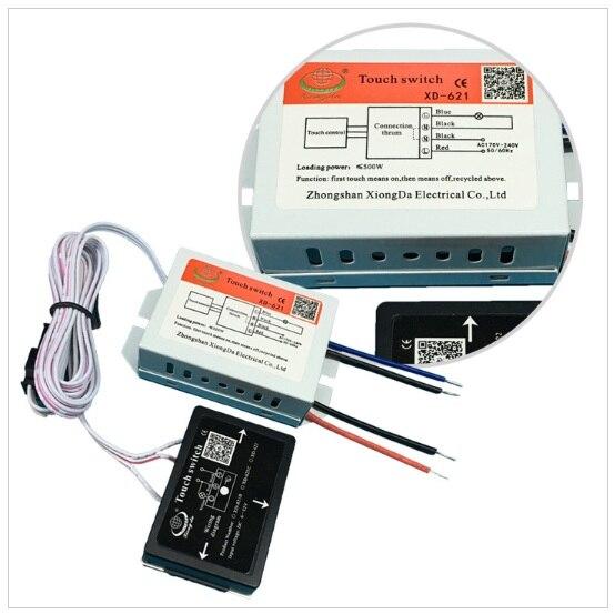 Xd-621 espejo lámpara Interruptor táctil 170-240vac 500 W alta Seguridad rendimiento