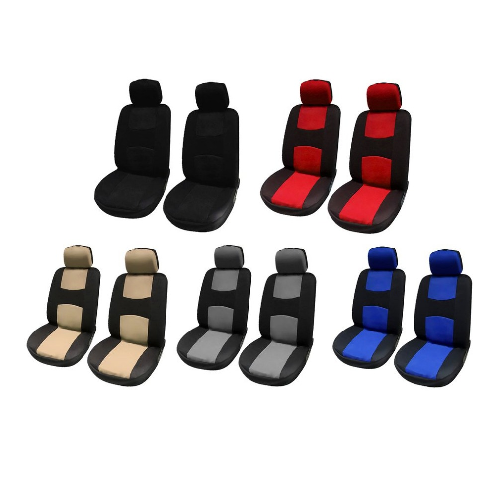 4Pcs Car Seat Covers Auto Interior Polyester 3MM Composite Sponge Universal Fit Car Styling Seat Cover Car Interior Accessories