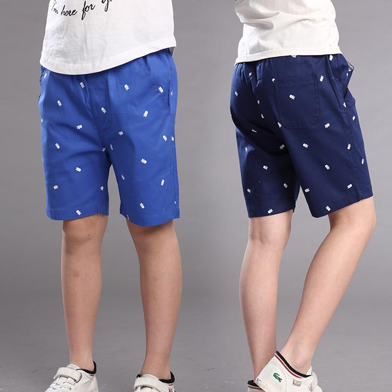 boys shorts kids pants half length children summer durable cropped trousers kids capris solid color100 cotton