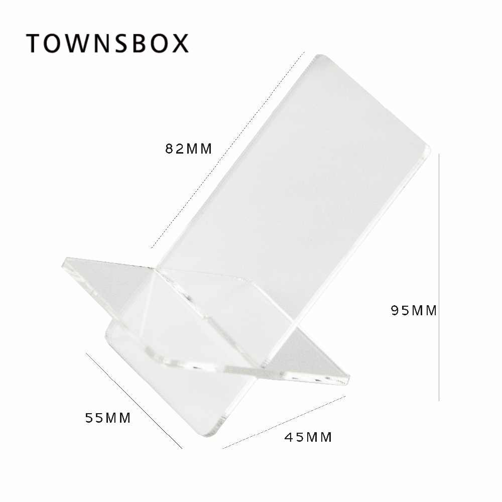 Mobile cell phone display stand X-type Clear Acrylic shoes holder wallet purse exhibition table medicine bottle display rack