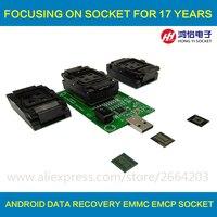 3 IN 1 EMMC EMCP Test Socket BGA153 169 BGA162 186 BGA221 Reader 11x10mm 11 5x13mm