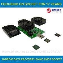 3 IN 1 eMMC eMCP Testsockel BGA153/169 BGA162/186 BGA221 Reader 11,5x13mm 12x16mm 12x18mm 14x18mm Flash Daten Recovery(China)