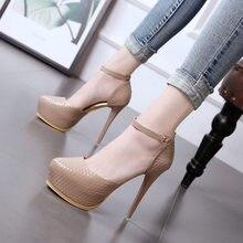 dbb31b1374 2018 outono nova Europeus e Americanos sexy moda dos saltos altos stiletto  sapatos único simples 12 cm super alta das mulheres d.