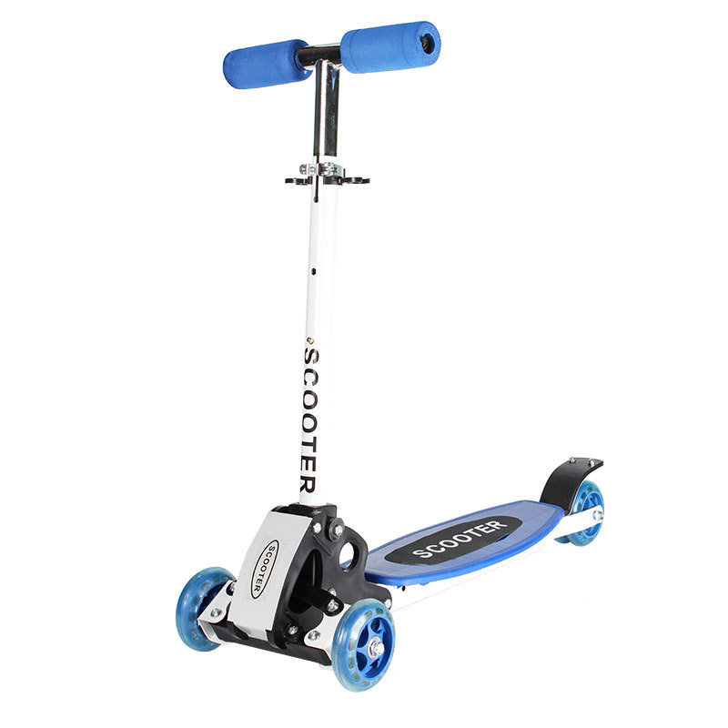 2016 New aluminium Alloy 3 Wheel Scooter for Kids children's tricycle scooter wiht flash light folding bike vik max adult kids dark blue leather figure skate shoes with aluminium alloy frame and stainless steel ice blade