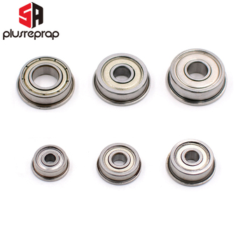 10PCS Flange Ball Bearings F623zz F624zz F625zz F604zz F606zz F688zz for 3D Printers Parts Deep Groove Pulley Wheel axk 608zz 623zz 624zz 625zz 635zz 626zz 688zz 10pcs abec 7 ball bearing 3d printers parts deep groove ball bearings