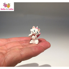 Free shipping White Black Pussy Cat Mini Figures 2pcs/lot PVC toys Mar car party succulent plant office home decor lover gifts