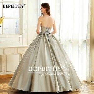 Image 2 - Bepeithy querida do vintage vestido de noite festa elegante 2020 brilho glitter tecido vestido baile vestidos de baile robe de soiree