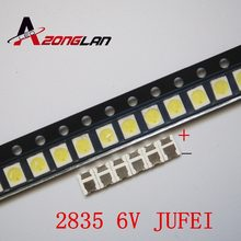 4000PCS/lot Konka Changhong Amoi LCD TV backlight Jufei 3528 SMD LED 2835 6V Cool white 96LM For TV LCD Backlight(China)