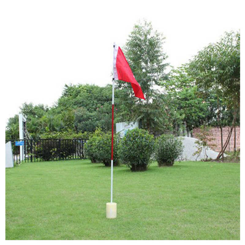 Backyard Practice Golf Hole Pole Cup Flag Stick Putting Green Flagstick
