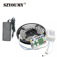 SZYOUMY SMD 5050 54LEDs/M 270leds RGB Running Horse Race Strip IP65 LED Strip +25key IR Controller +12V 5A Power Adapter