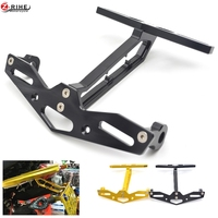 MSX125 MSX300 CNC Aluminum Gold Black Motorcycle License Plate Frame Steering Lamp License Plate For Honda