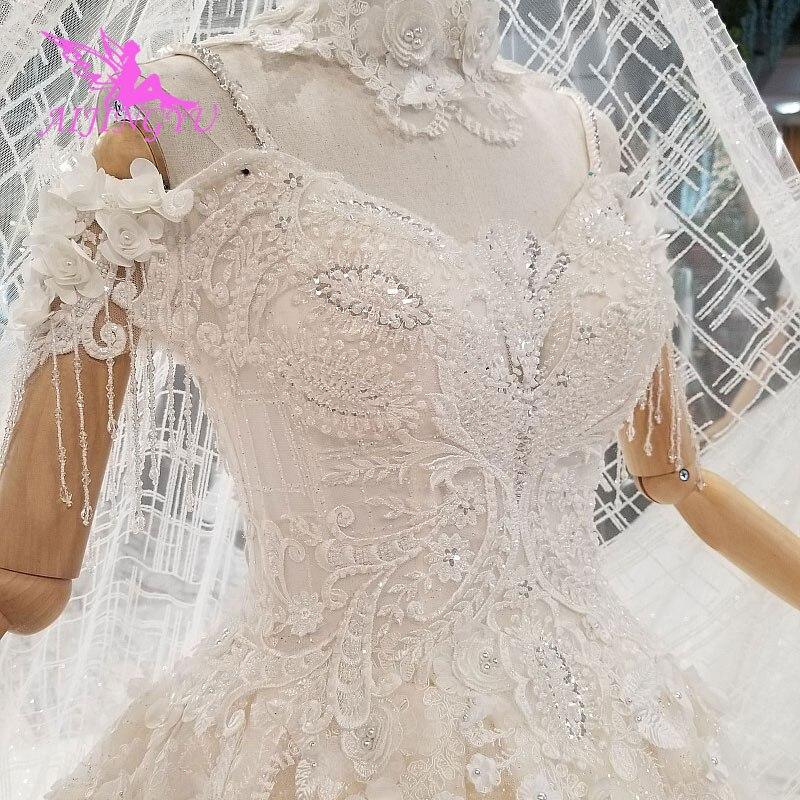 Image 2 - AIJINGYU Lavender Wedding Dress Indian Sexy Plus Size Luxury Ball Korean White Bridal Wedding GownsWedding Dresses   -