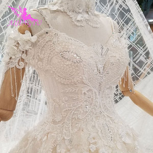 Image 2 - AIJINGYU ラベンダーウェディングドレスインドセクシーなプラスサイズの高級ボール韓国ホワイトブライダルウェディングドレス