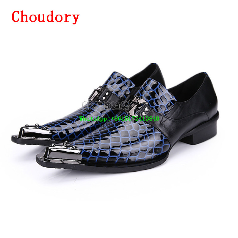 Choudory Mixed Colors Height Increasing Men Casual Shoes Pointed Toe Hasp Retro New Fashion High Quality Spring Men Dress Shoes