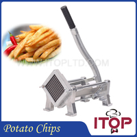 Fast Delivery! Stainless Steel French Fry Potato Chips Cutters+3 Blades Size,French Fry Cutter with Suction Feet, Chips Cutter