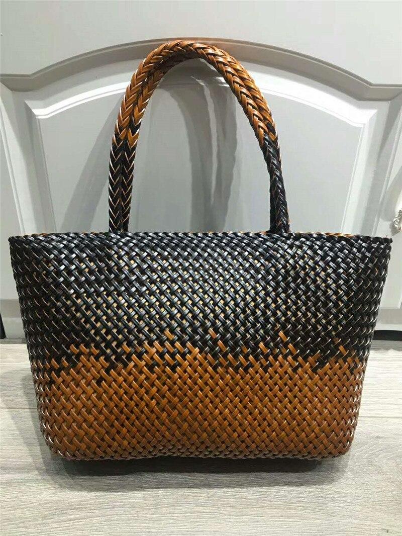handmade rattan weaving craft top handle genuine leather bags women handmade rattan weaving craft top handle genuine leather bags women