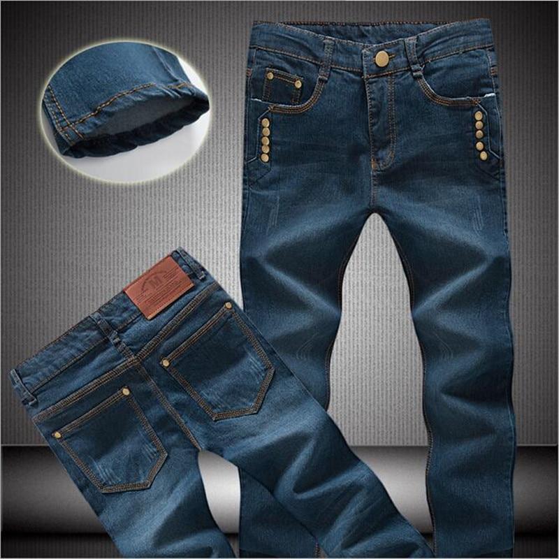 XMY3DWX fashion male quality slim fit cotton casual jeans/Male upscale gentleman leisure thin leg pants/Male pencil pants male
