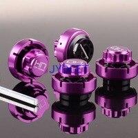 4pcs HSF10X07 RC 17mm Warlock Hex w/Serrated Nuts +5MM Purple For HPI Savage Flux
