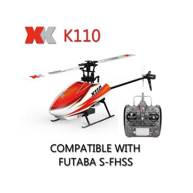 Original XK Blast K110 6CH 3D 6G System Brushless Motor RTF RC Helicopter