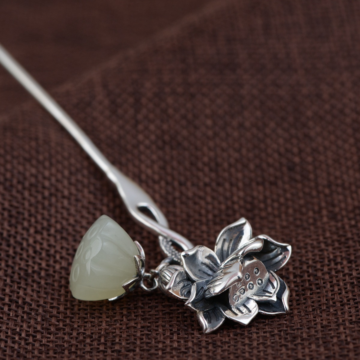 Lotus Thai Silver Hair Stick Vintage Dangle Silver Chinese Hairpin Flower Hair Fork Hair Jewelry Hair Accessories WIGO1152 цена